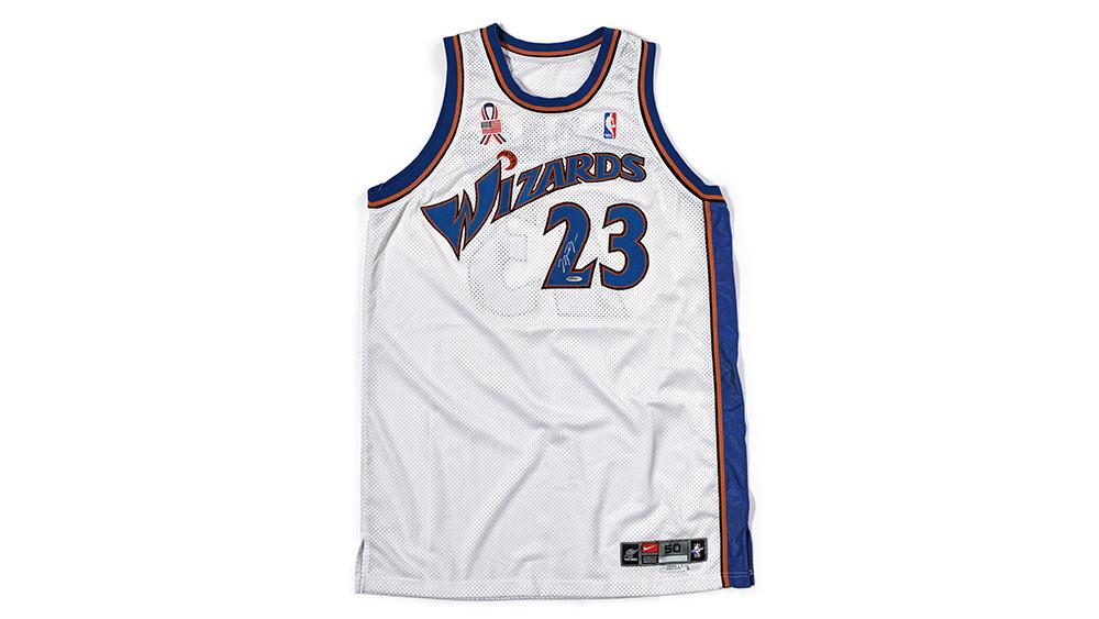 Michael Jordan's Game-Worn Autographed Washington Wizards Jersey