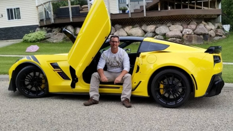 Mike Schickerowski and his Chevrolet Corvette C7 Grand Sport