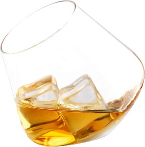 MyGift Tilted Crystal Whiskey Tumblers