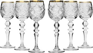 Neman Crystal Sherry Glasses