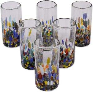 NOVICA Multicolor Highball Glasses
