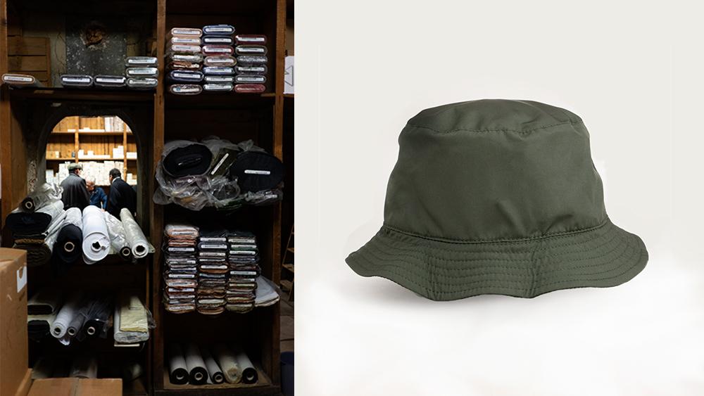 One of PML's workshops, PML reversible bucket hat.