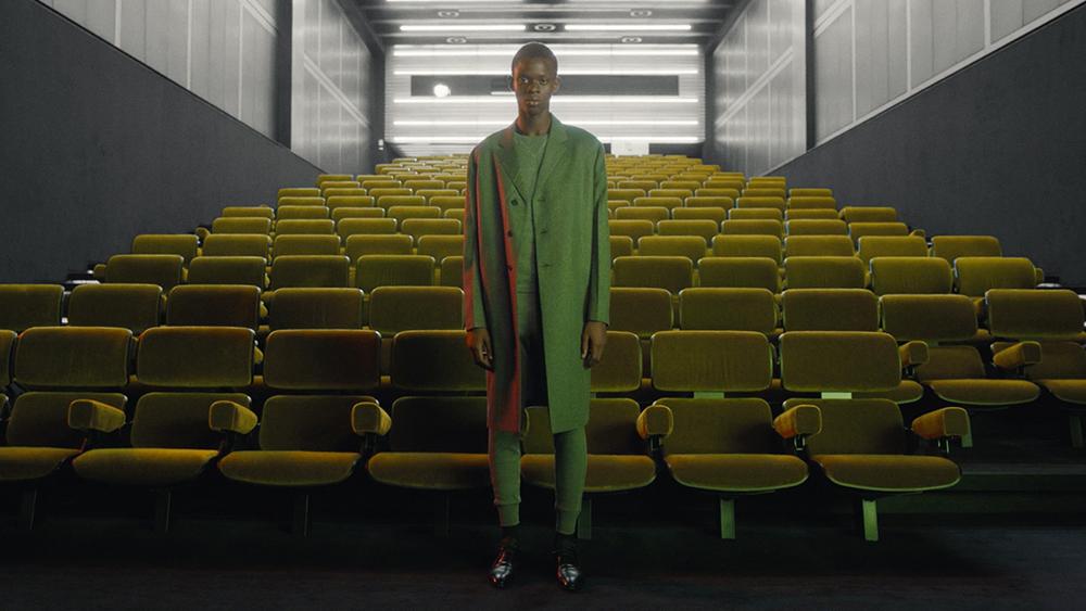 A still from Prada's spring 2021 menswear presentation.
