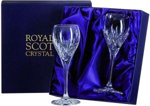 Royal Scot Crystal Port Glasses