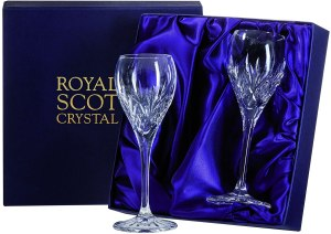 Royal Scot Crystal Sherry Glasses