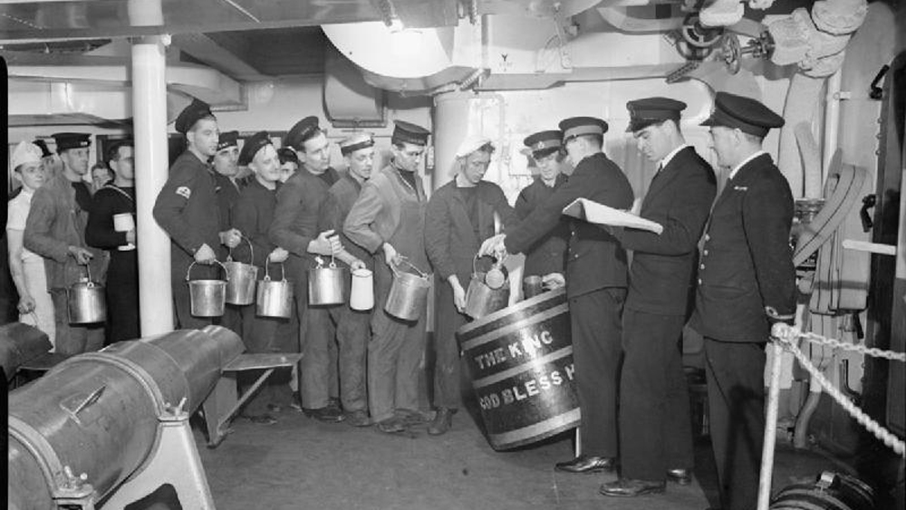 british sailors rum ration