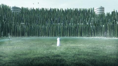 A render of Angelo Renna's 'Monumento per la Vita'