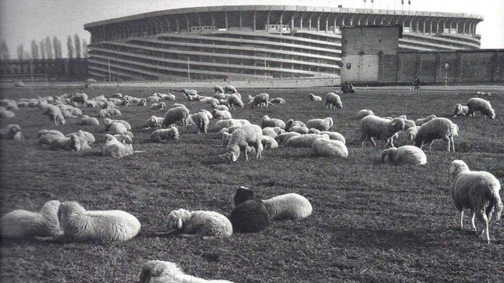 An archival photograph of San Siro