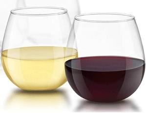 JoyJolt Stemless Wine Glasses