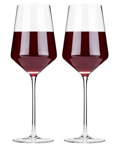 Viski Crystal Bordeaux Wine Glasses