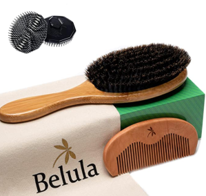 Belula Boar Bristle Hair Brush for Men