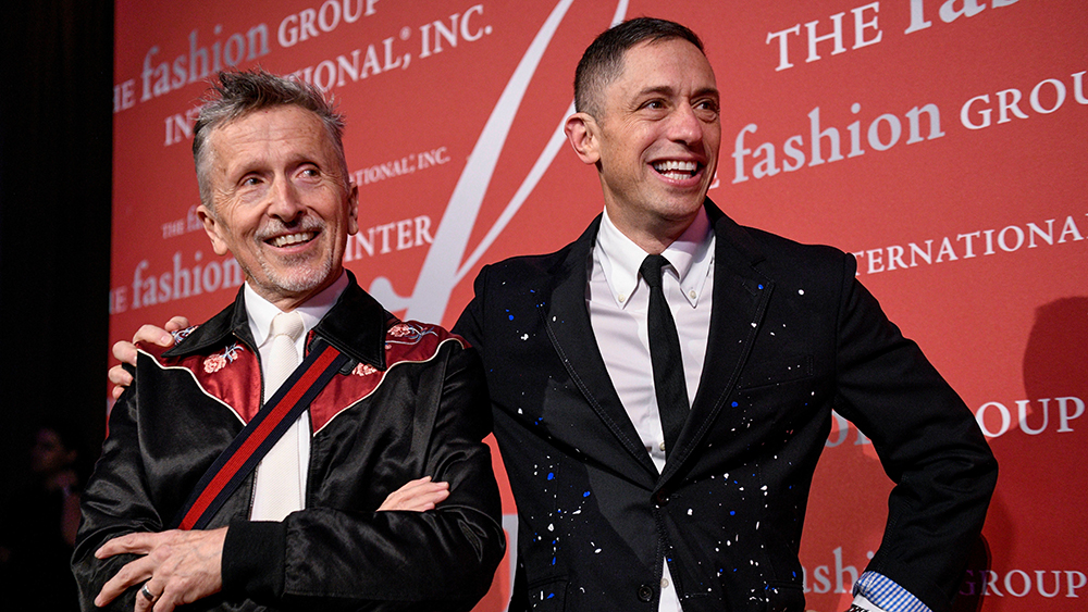 Simon Doonan and Jonathan AdlerFashion Group International's Night of Stars Gala, Arrivals, Cipriani Wall Street, New York, USA - 24 Oct 2019