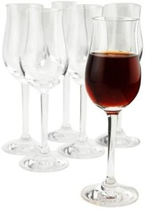 Stolzle Lead-Free Crystal Sherry Glasses