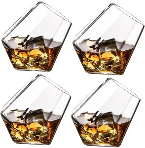 The Wine Savant Diamond Whiskey Glasses