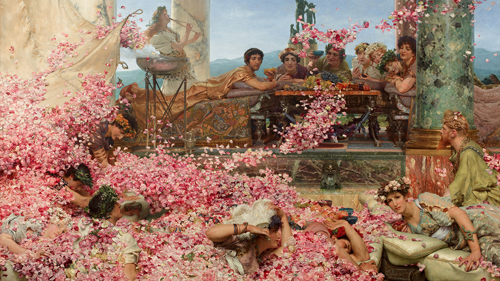 The Roses of Helioglobalus, by Lawrence Alma-Tadema
