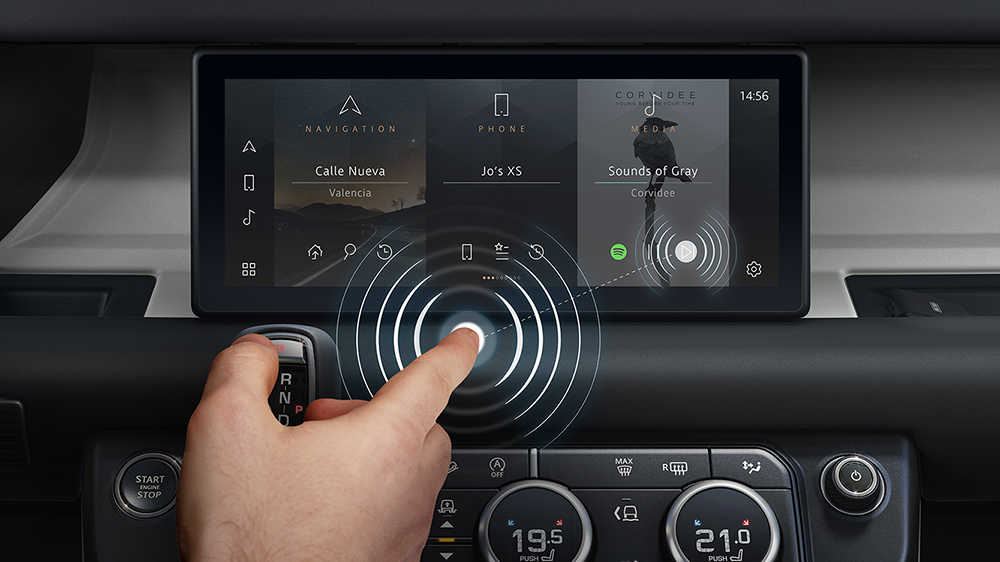 Jaguar Land Rover and Cambridge's Contactless Touchscreen
