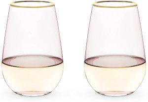 Twine Stemless Crystal Wine Glasses