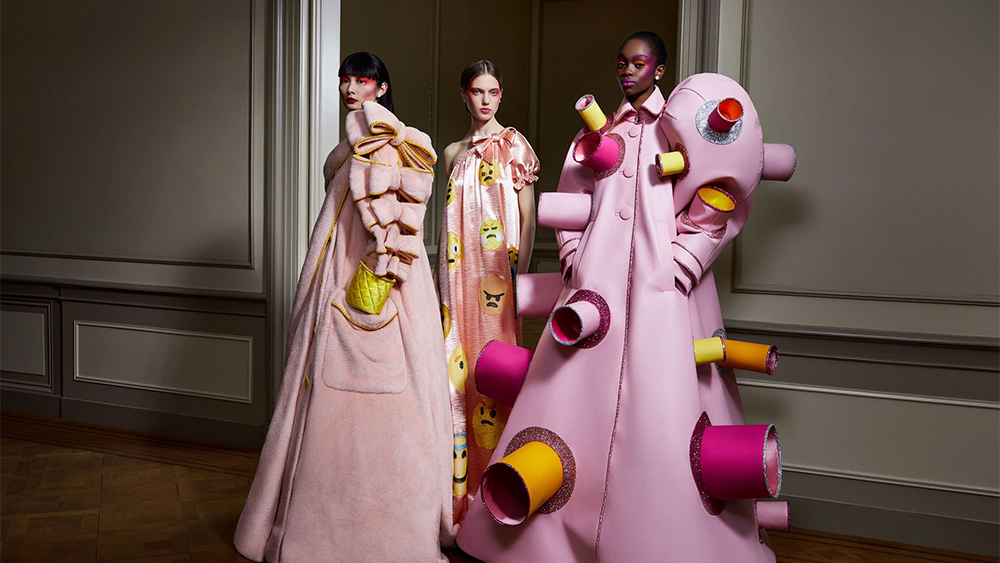 "The ""Confusion Wardrobe"" from Viktor & Rolf's couture collection."