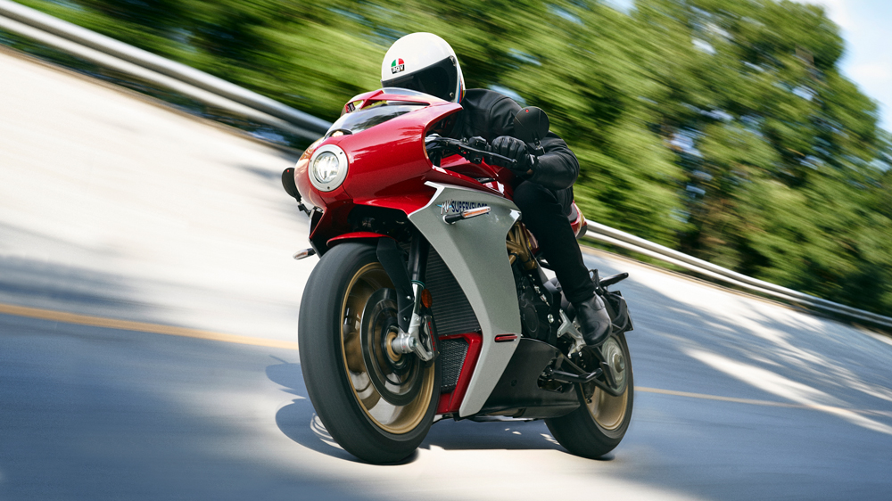 The MV Agusta Superveloce 800 motorcycle.