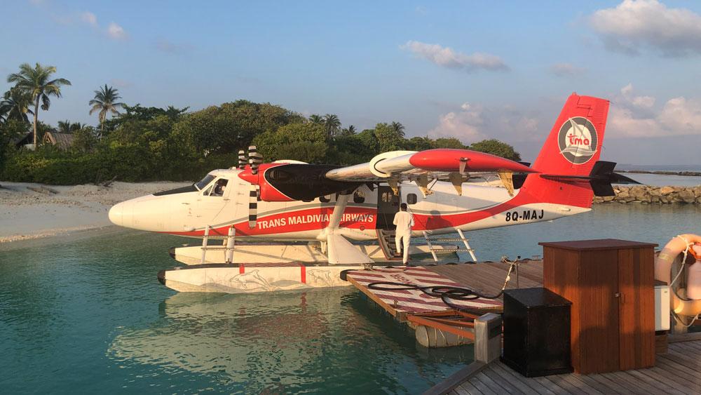 Arriving at Emerald Maldives Resort & Spa.