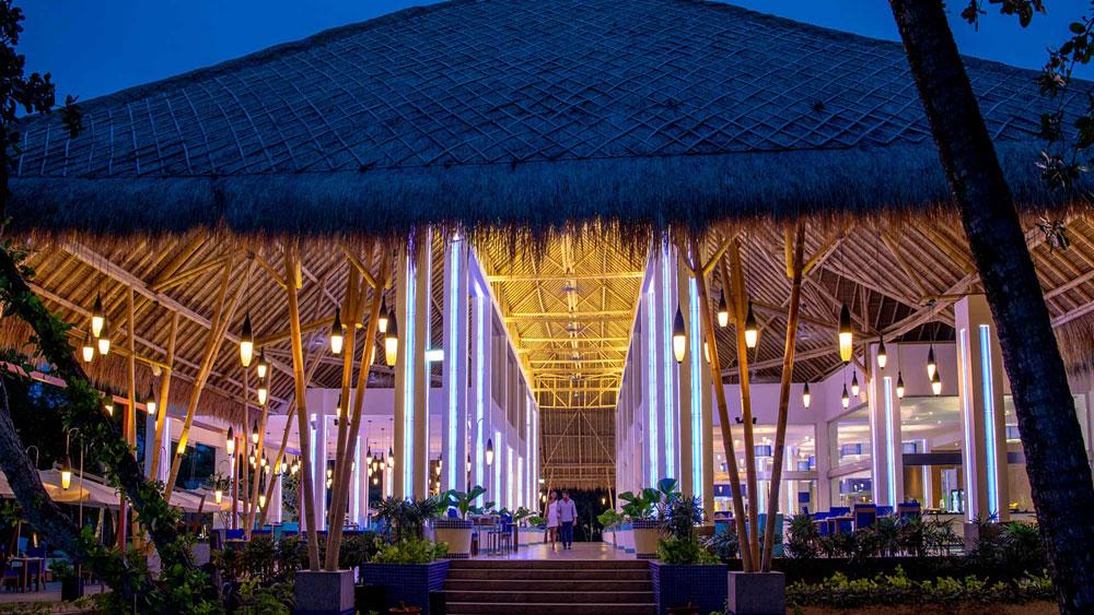 The Aqua Restaurant at Emerald Maldives Resort & Spa.