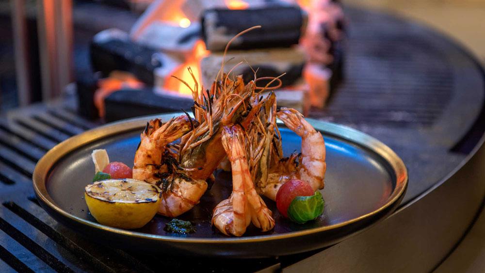 A seafood dish served at Emerald Maldives Resort & Spa.