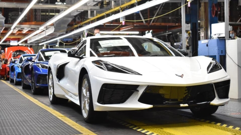 The 1.75-millionth Chevrolet Corvette