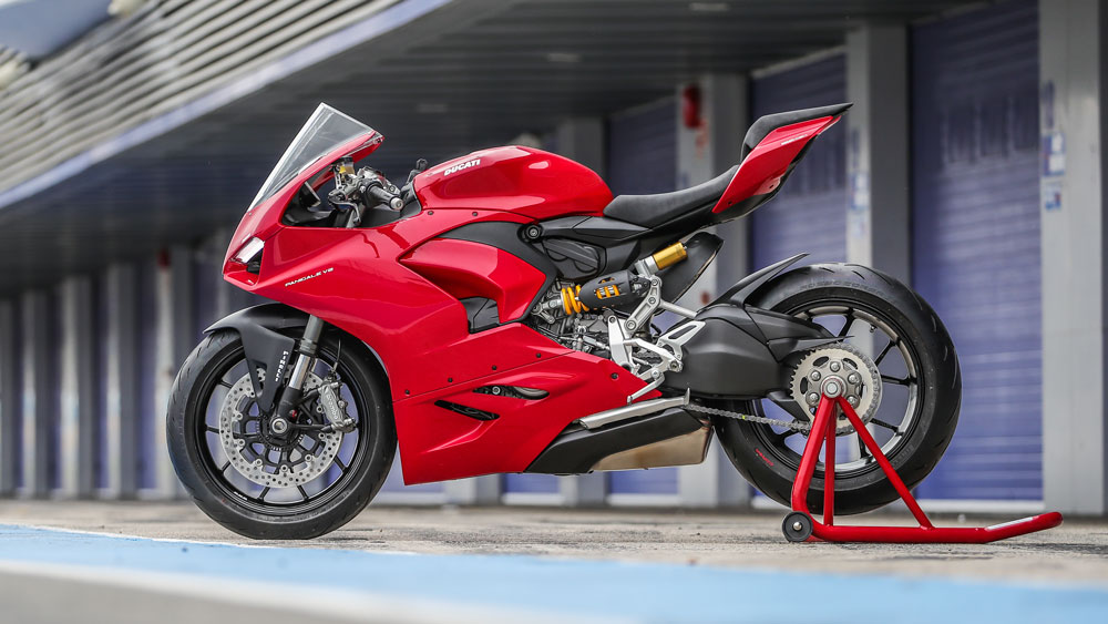 The Ducati Panigale V2 motorcycle.