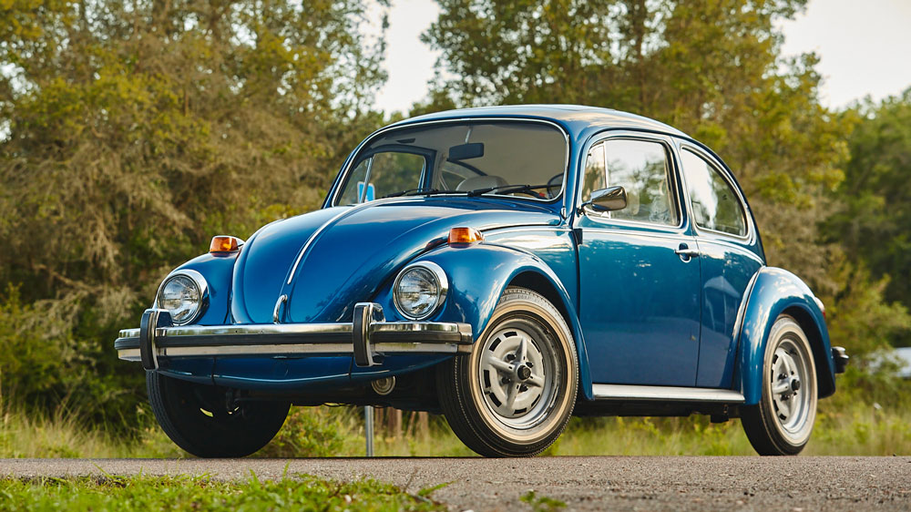 A 1977 Volkswagen Beetle with only 124 miles on the odometer.