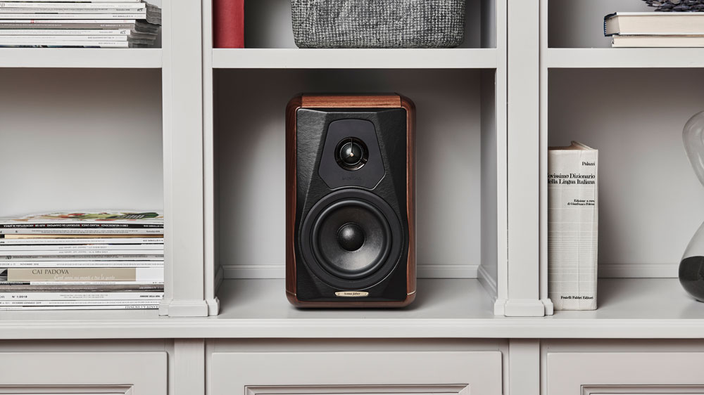 The Sonus Faber Minima Amator II speakers.