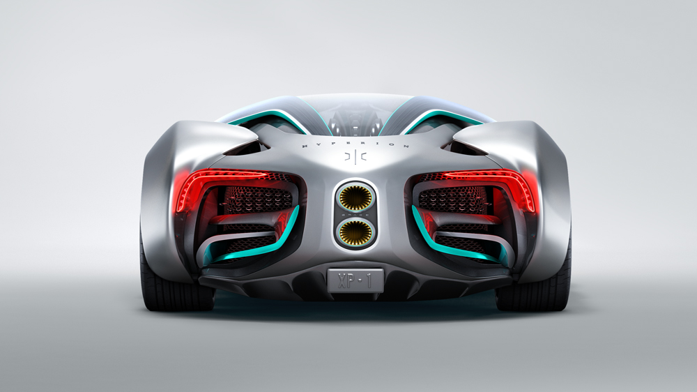 The Hyperion XP-1 hydrogen-powered supercar.