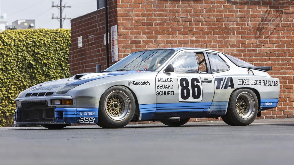 An unrestored 1981 Porsche 924 GTR.