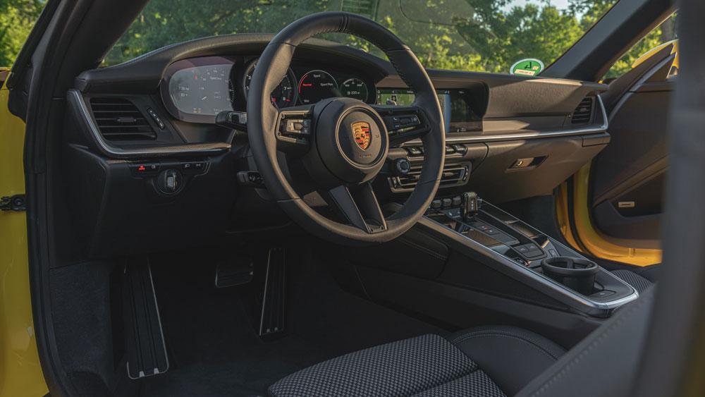 Inside the 2021 Porsche 911 Targa 4S.