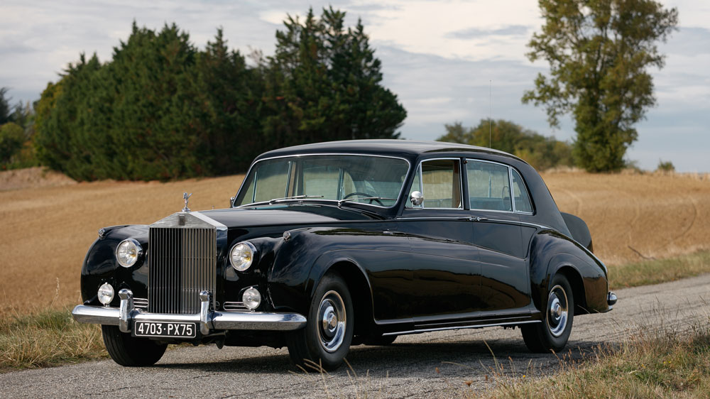 A 1962 Rolls-Royce Phantom V limousine bodied by James Young.