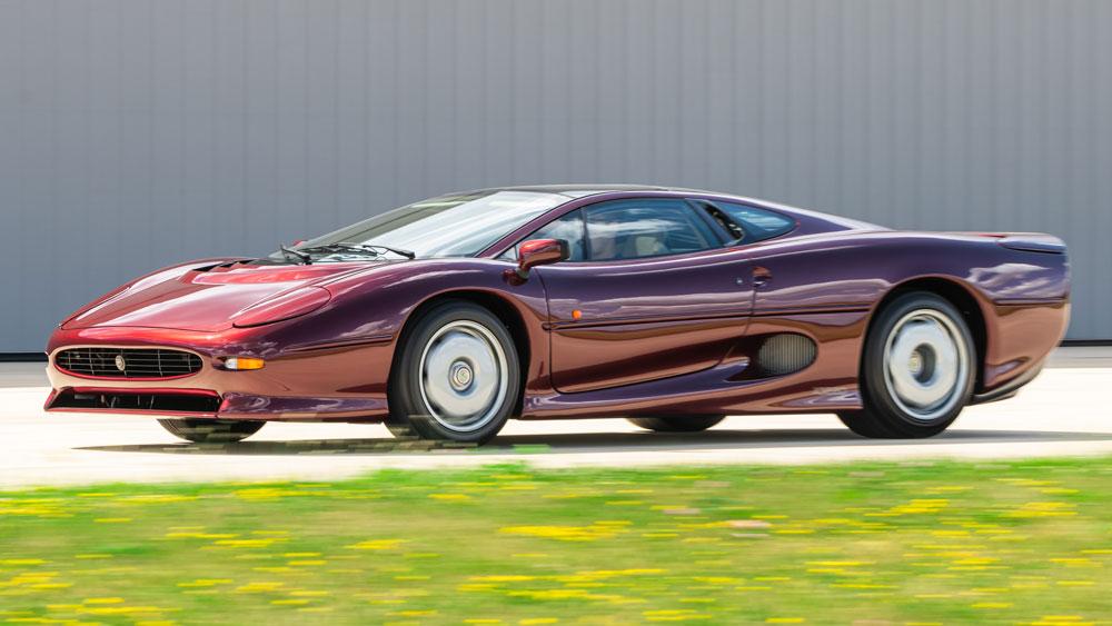 A 1993 Jaguar XJ220.