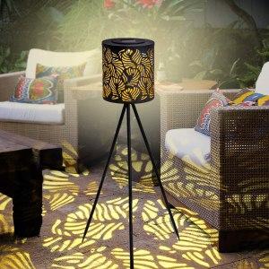 JJALIGHTS Solar Powered Outdoor Floor Lamp