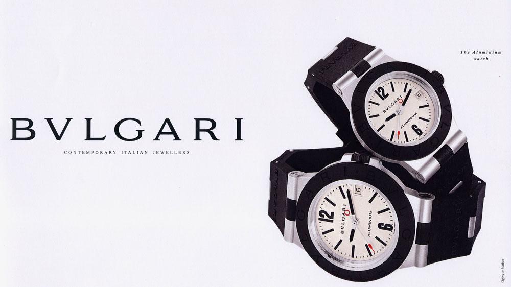 Bulgari's 1998 Aluminium Watch Campaign