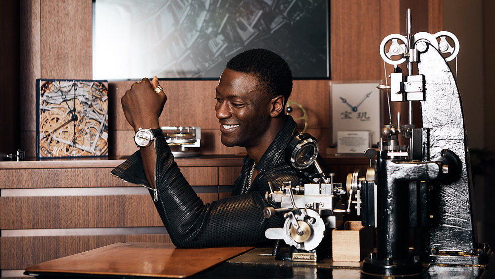 Aldis Hodge in Breguet's NYC Boutique