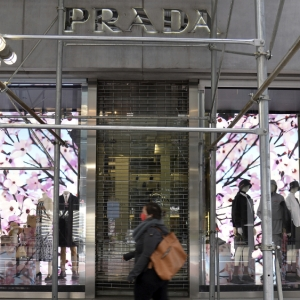 Prada closed storefront