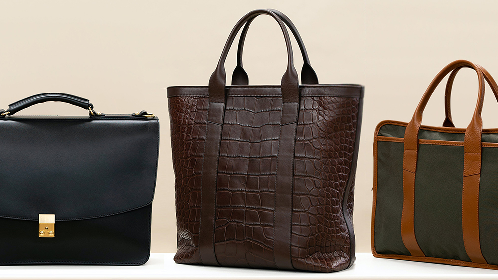 A selection of bags by Frank Clegg for The Armoury