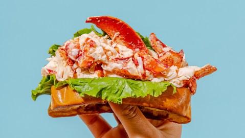 Beal's Lobster Pier lobster roll