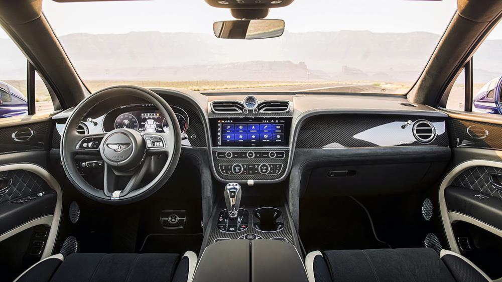 Inside the 2021 Bentley Bentayga Speed