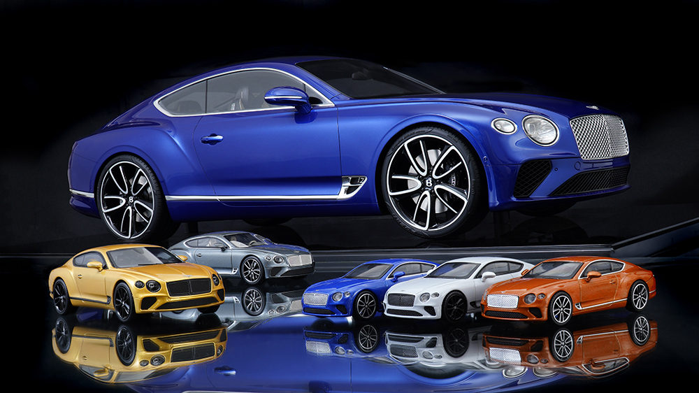 Bentley's full line of scale Continental GT models