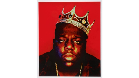 """Barron Claiborne's """"Notorious B.I.G. as the King of New York"""""""