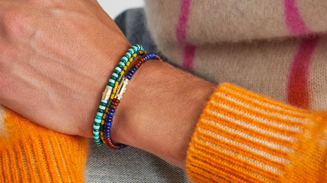 Beaded bracelets by Luis Morais