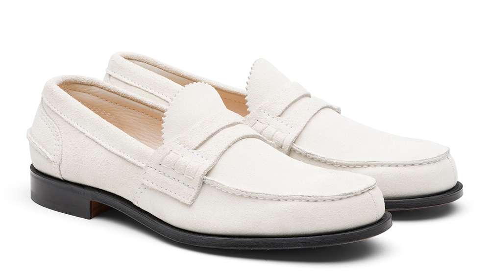 Church's white suede loafer, $650
