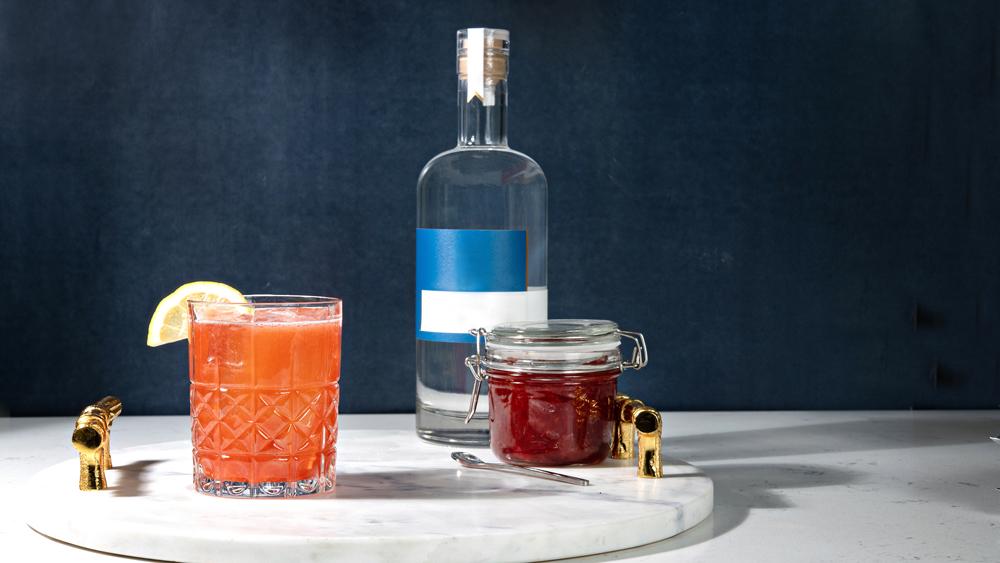 Cocktail shrubs and vodka