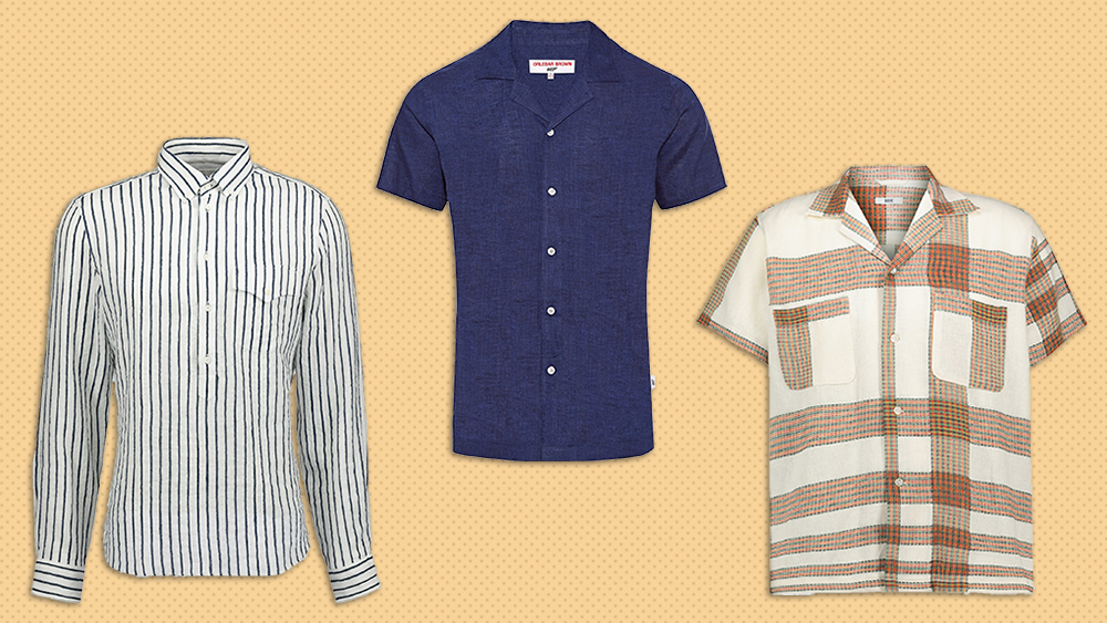 Linen shirts from Brunello Cucinelli, Orlebar Brown and Bode