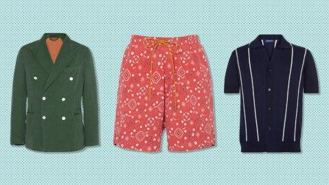 The GiGi blazer, Rhude shorts, Frescobal Carioca polo