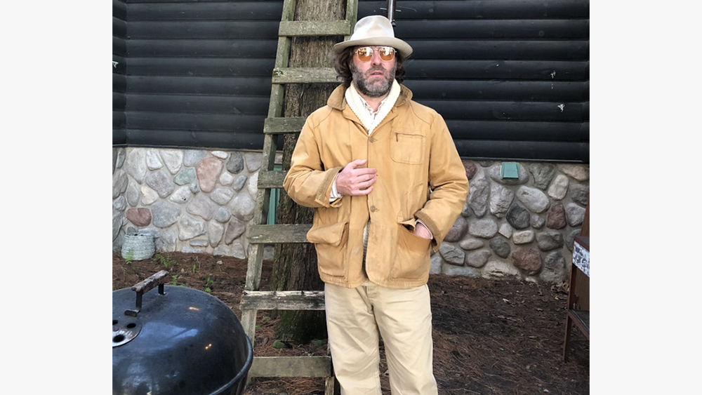 David Coggins in a vintage L.L. Bean field coat.